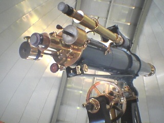 Antique telescope at Chabot Space and Science Center